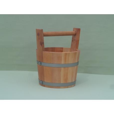 Wiadro olchowe o pojemności 5 litrów z pałąkiem drewnianym