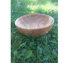 Miska wykonana z drewna dębowego