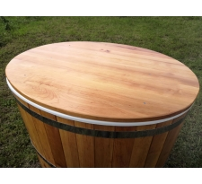 Pokrywa do bali jednoosobowej z litego drewna